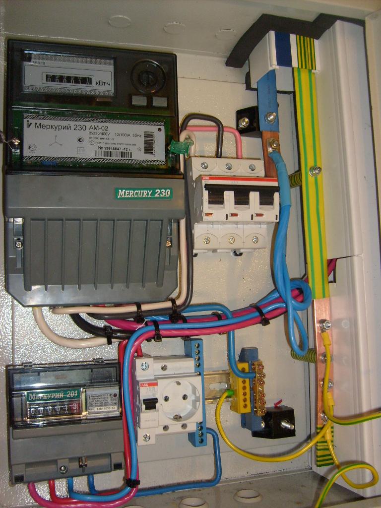 Щит учета электроэнергии 380в для частного дома 15 квт