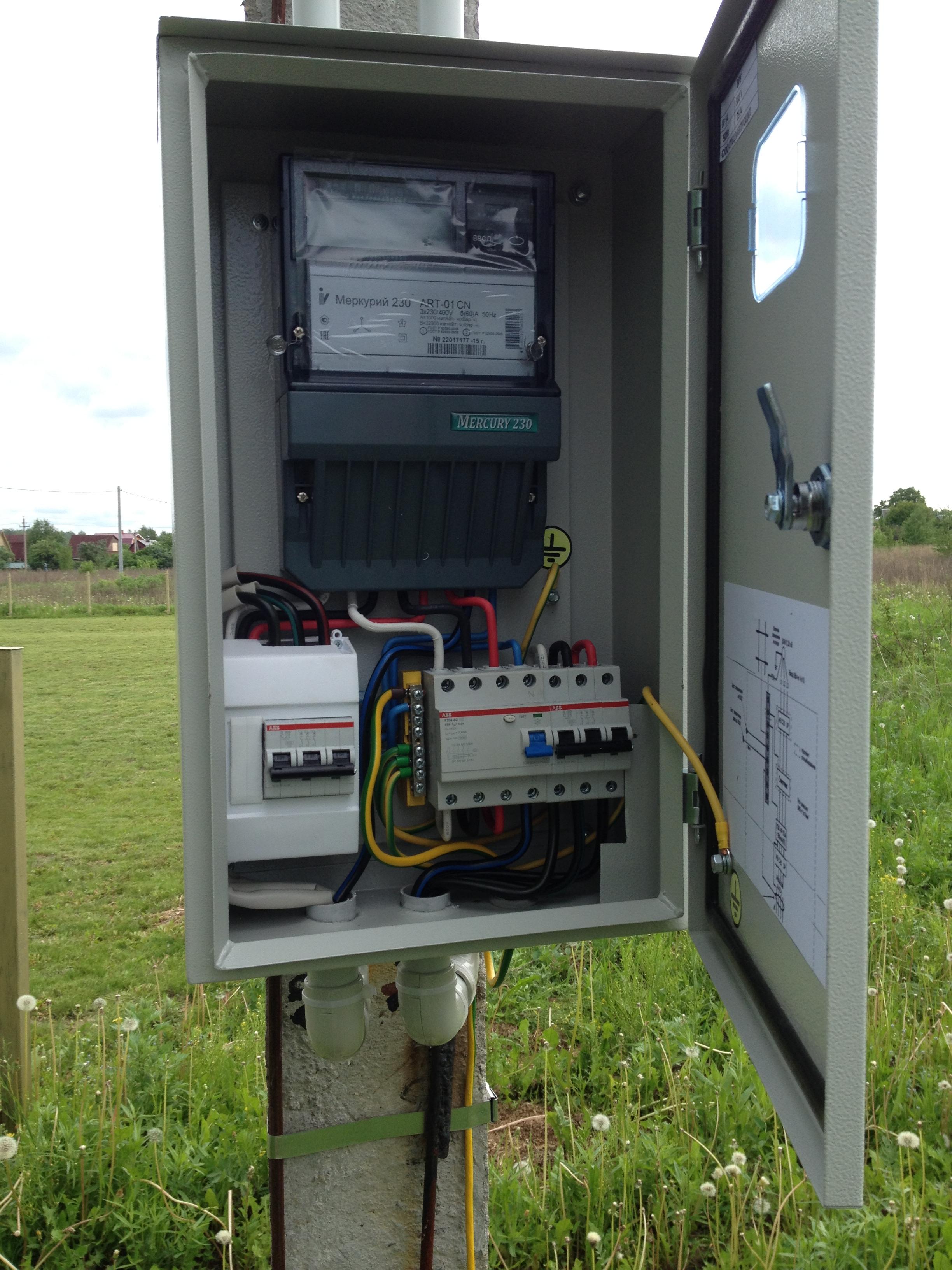 схема установки электро столбов