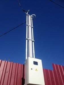трубостойка для подвода 15 квт 380 в на участке